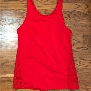 Zella Red Workout Top mesh back Small